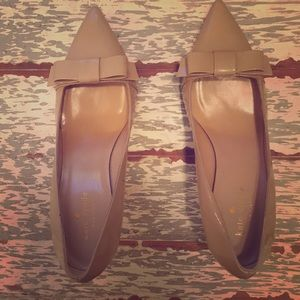 Kate Spade Nude bow heels; Size 8